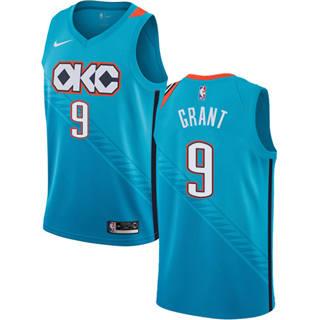 Men's  Oklahoma City Thunder #9 Jerami Grant Turquoise 2018-19 City Edition Basketball Swingman Jersey