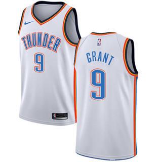 Men's  Oklahoma City Thunder #9 Jerami Grant White Basketball Swingman Association Edition Jersey