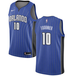 Men's  Orlando Magic #10 Evan Fournier Royal Basketball Swingman Icon Edition Jersey