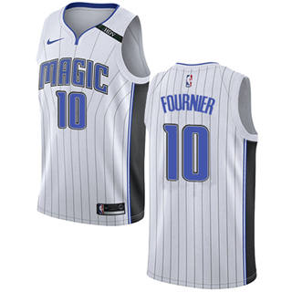 Men's  Orlando Magic #10 Evan Fournier White Basketball Swingman Association Edition Jersey