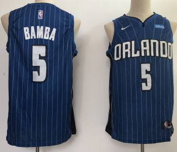 Men's  Orlando Magic #5 Mohamed Bamba Royal Basketball Swingman Icon Edition Jersey
