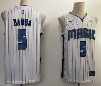 Men's  Orlando Magic #5 Mohamed Bamba White Basketball Swingman Association Edition Jersey