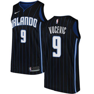 Men's  Orlando Magic #9 Nikola Vucevic Black Basketball Swingman Statement Edition Jersey
