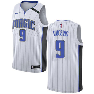 Men's  Orlando Magic #9 Nikola Vucevic White Basketball Swingman Association Edition Jersey