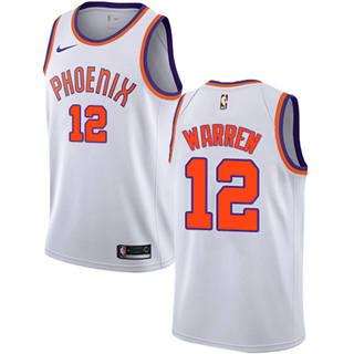 Men's  Phoenix Suns #12 T.J. Warren White Basketball Swingman Association Edition Jersey