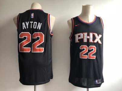 Men's  Phoenix Suns #22 Deandre Ayton Black Basketball Swingman Statement Edition Jersey