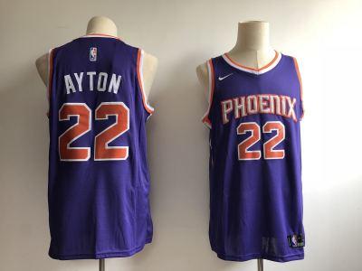Men's  Phoenix Suns #22 Deandre Ayton Purple Basketball Swingman Icon Edition Jersey