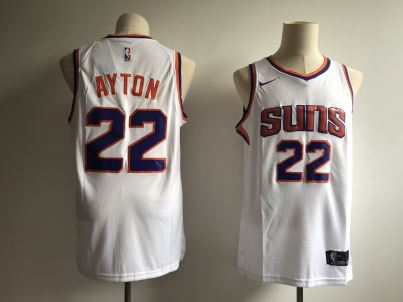 Men's  Phoenix Suns #22 Deandre Ayton White Basketball Swingman Association Edition Jersey