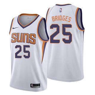 Men's  Phoenix Suns #25 Mikal Bridges White Basketball Swingman Association Edition Jersey