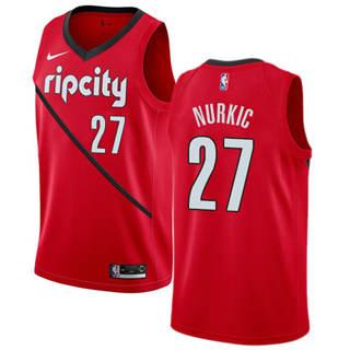 Men's  Portland Trail Blazers #27 Jusuf Nurkic Red Basketball Swingman Earned Edition Jersey