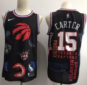 061c5fd26 Men s Toronto Raptors  15 Vince Carter Black Jointly Team NBA Swingman  Jersey