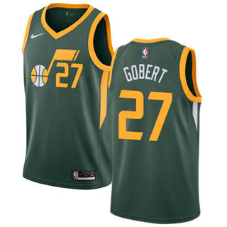 Men's  Utah Jazz #27 Rudy Gobert Green Basketball Swingman Earned Edition Jersey
