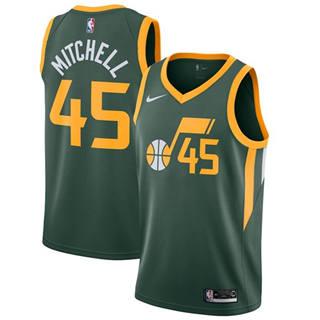 Men's  Utah Jazz #45 Donovan Mitchell Green Basketball Swingman Earned Edition Jersey