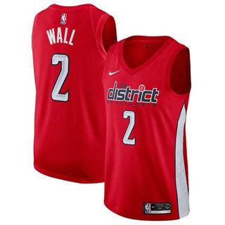 Men's  Washington Wizards #2 John Wall Red Basketball Swingman Earned Edition Jersey