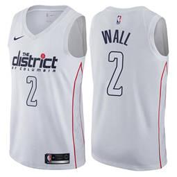 Men's  Washington Wizards #2 John Wall White Basketball Swingman City Edition Jersey