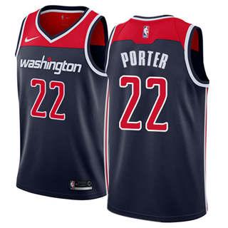 Men's  Washington Wizards #22 Otto Porter Navy Blue Basketball Swingman Statement Edition Jersey