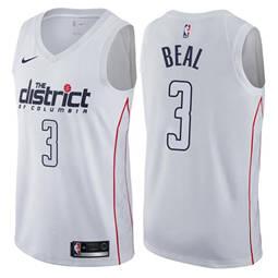 Men's  Washington Wizards #3 Bradley Beal White Basketball Swingman City Edition Jersey
