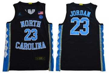 Men's North Carolina #23 Michael Jordan Black Stitched College Basketball Jersey
