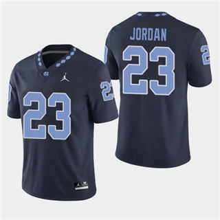 Men's North Carolina Tar Heels #23 Michael Jordan Navy NCAA Jersey