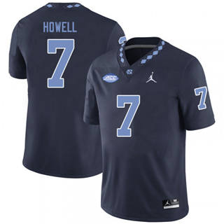 Men's North Carolina Tar Heels #7 Sam Howell Black NCAA 2019-2020 Jersey