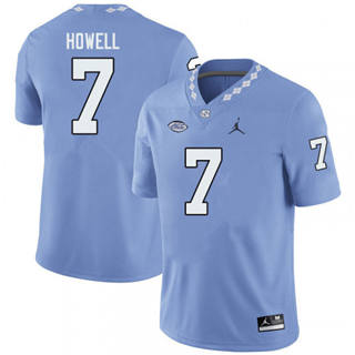 Men's North Carolina Tar Heels #7 Sam Howell Blue NCAA 2019-2020 Jersey