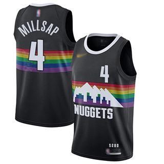 Men's Nuggets #4 Paul Millsap Black Basketball Swingman City Edition 2019-2020 Jersey