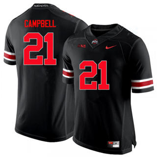 Men's Ohio State Buckeyes #21 Parris Campb Black Red NCAA Football Jersey