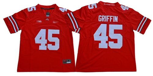 Men's Ohio State Buckeyes #45 Archie Griffin Red Stitched College Football Jersey