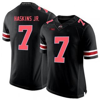 Men's Ohio State Buckeyes #7 Dwayne Haskins Jr. Black Red NCAA Football Jersey