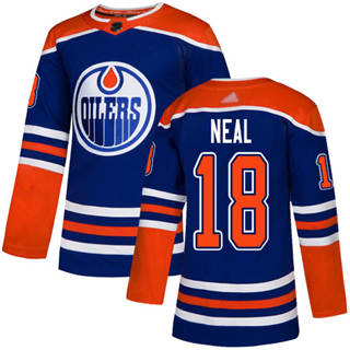 Men's Oilers #18 James Neal Royal Alternate Authentic Stitched Hockey Jersey