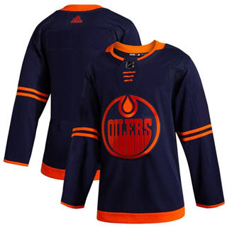 Men's Oilers Blank Navy Alternate Authentic Stitched Hockey Jersey