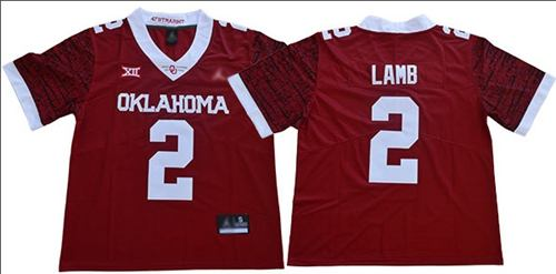 Men's Oklahoma Sooners #2 CeeDee Lamb Red Jordan Brand Limited New XII Stitched College Football Jersey
