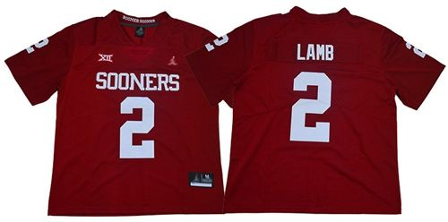 Men's Oklahoma Sooners #2 CeeDee Lamb Red Jordan Brand Limited Stitched College Jersey