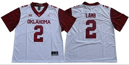 Men's Oklahoma Sooners #2 CeeDee Lamb White Jordan Brand Limited New XII Stitched College Football Jersey