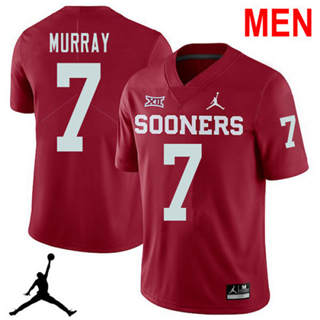 Men's Oklahoma Sooners #7 DeMarco Murray Red NCAA Football Jersey