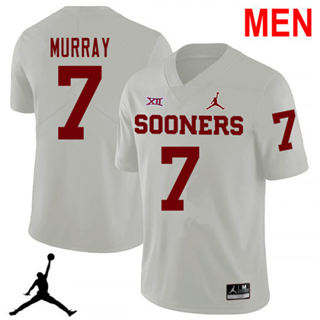 Men's Oklahoma Sooners #7 DeMarco Murray White NCAA Football Jersey