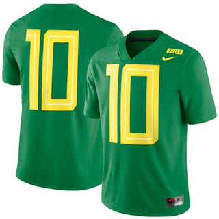 Men's Oregon Ducks #10 Mighty Oregon Limited Football Jersey Green