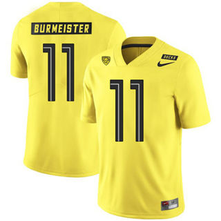 Men's Oregon Ducks #11 Braxton Burmeister NCAA Football Jersey Yellow