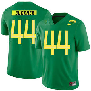 Men's Oregon Ducks #44 DeForest Buckner NCAA Football Jersey Apple Green