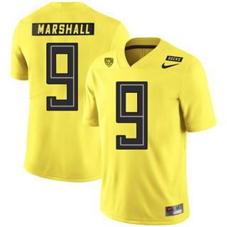 Men's Oregon Ducks #9 Byron Marshall NCAA Football Jersey Yellow