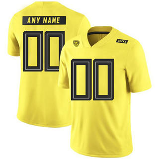 Men's Oregon Ducks Custom Name Number Yellow College Football Jersey