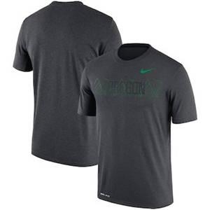 Men's Oregon Ducks  Sideline Seismic Legend Performance T-Shirt – Charcoal