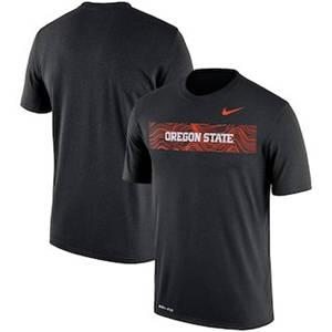 Men's Oregon State Beavers  Sideline Seismic Legend Performance T-Shirt – Black