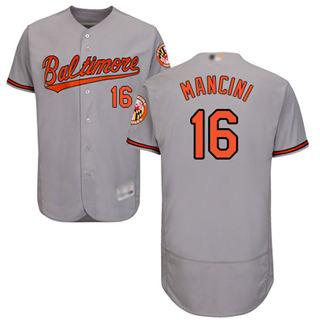 Men's Orioles #16 Trey Mancini Grey Flexbase  Collection Stitched Baseball Jersey