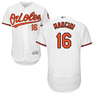 Men's Orioles #16 Trey Mancini White Flexbase  Collection Stitched Baseball Jersey