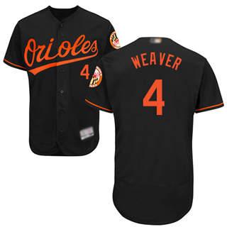 Men's Orioles #4 Earl Weaver Black Flexbase  Collection Stitched Baseball Jersey