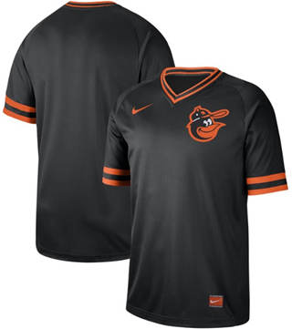 Men's Orioles Blank Black  Cooperstown Collection Stitched Baseball Jersey