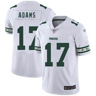 Men's Packers #17 Davante Adams White Stitched Football Limited Team Logo Fashion Jersey