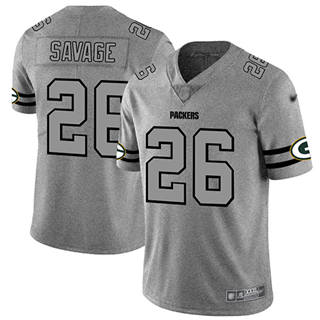 Men's Packers #26 Darnell Savage Gray Stitched Football Limited Team Logo Gridiron Jersey