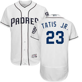 Men's Padres #23 Fernando Tatis Jr. White Flexbase  Collection Stitched Baseball Jersey